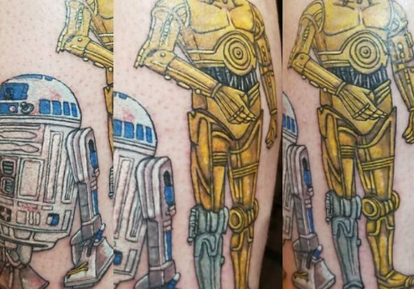 R2D2 and C3PO Tattoos