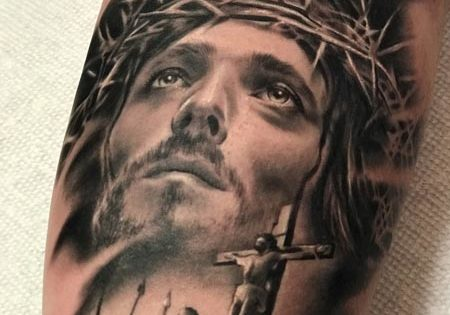 Jesus Portrait Tattoo