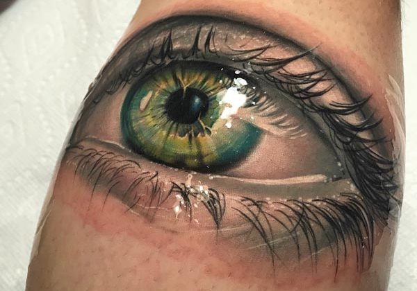 Realistic Eye Tattoo Design