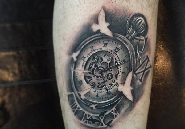 Black and grey realism Compass