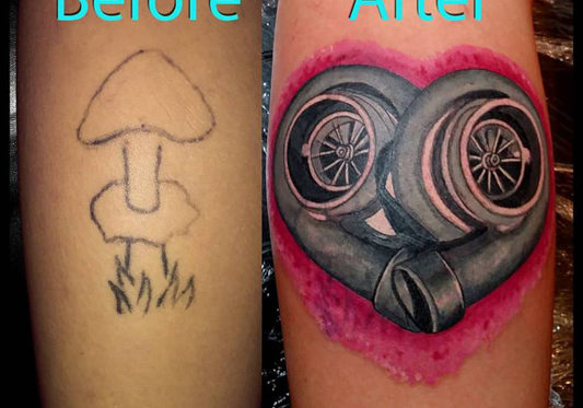 cover up tattoo of a engine
