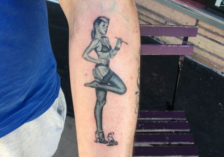 Pinup Tattoo on the arm