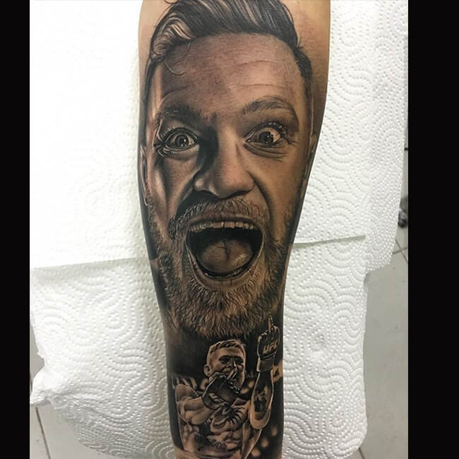 3fd828782 Yelling Guy Tattoo Done at our Tattoo Shops in Miami