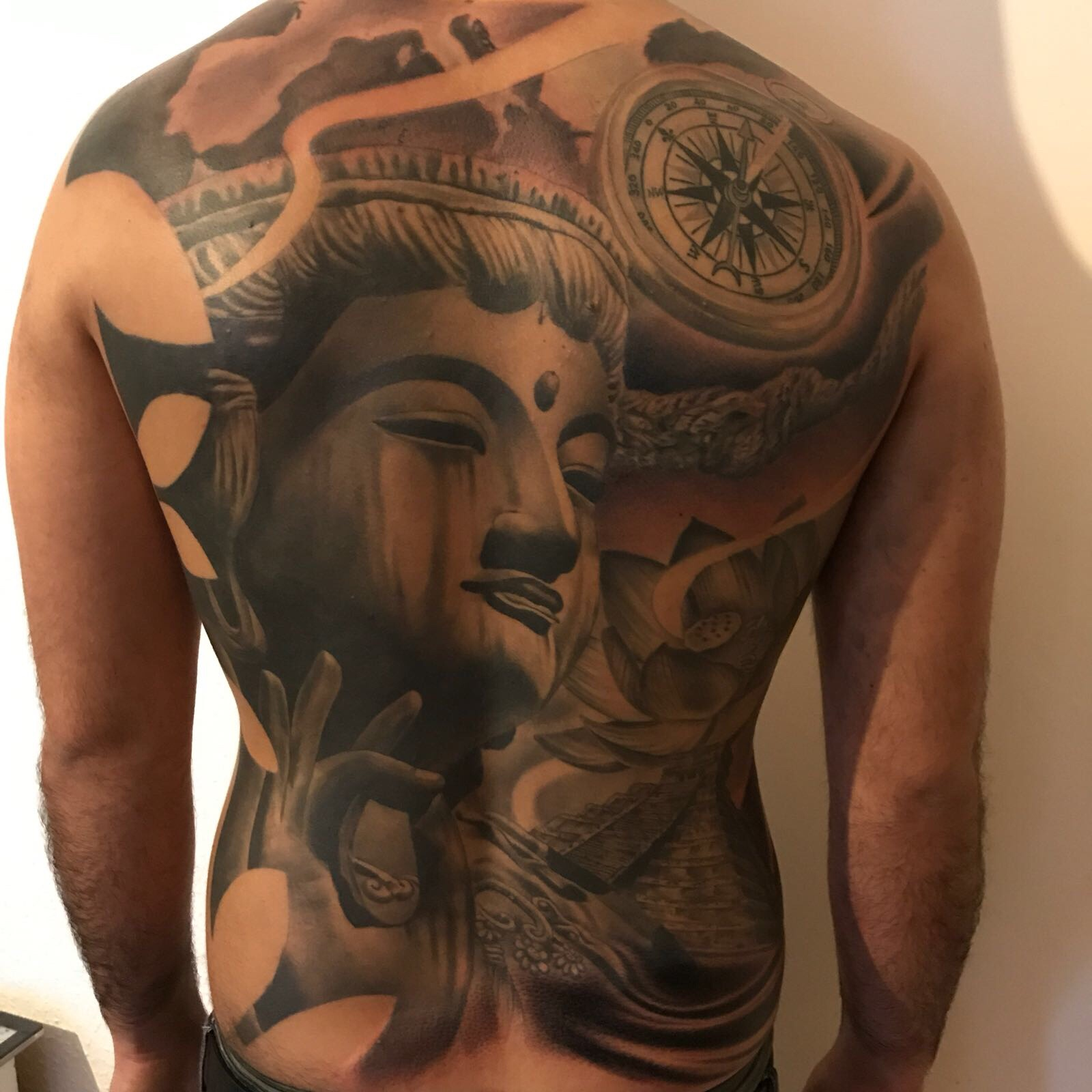 Buddha\'s Tattoo Done by Cesar at our Tattoo Shop in Miami ...