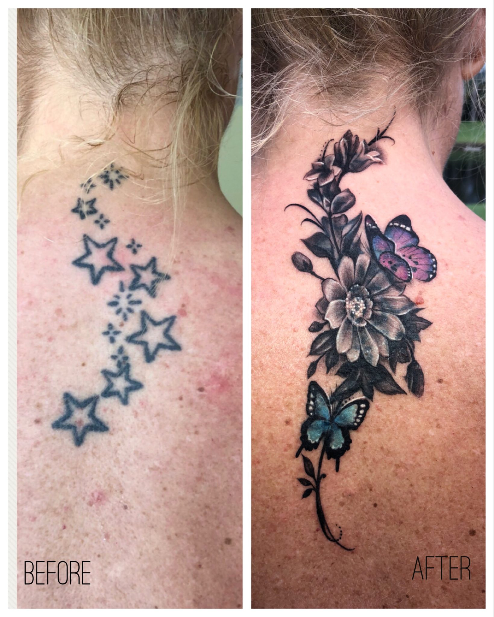 Cover Up Tattoo Done by Alien at our Miami Tattoo Shop   Salvation ...